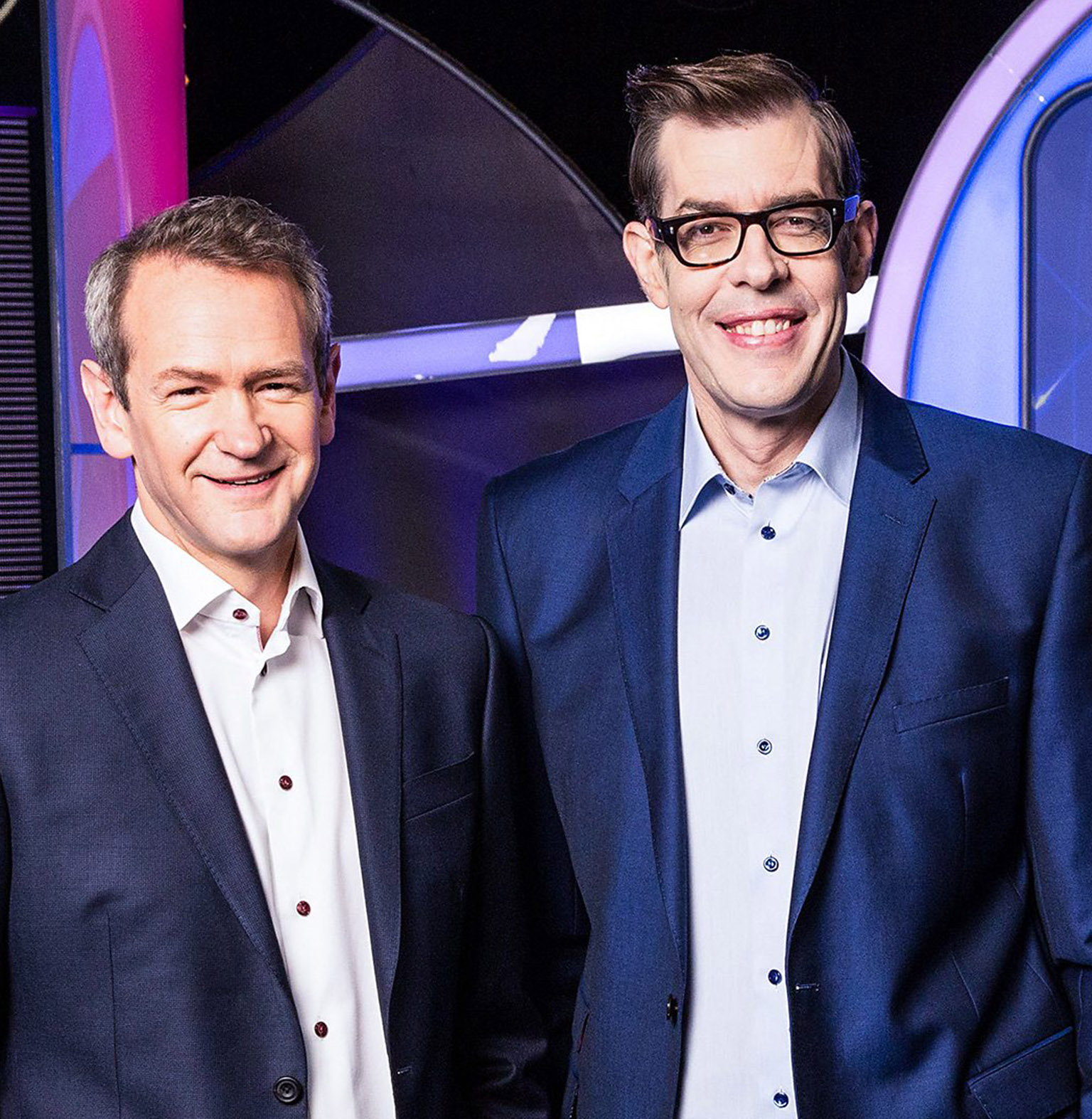 Alexander Armstrong and Richard Osman from BBC's Pointless